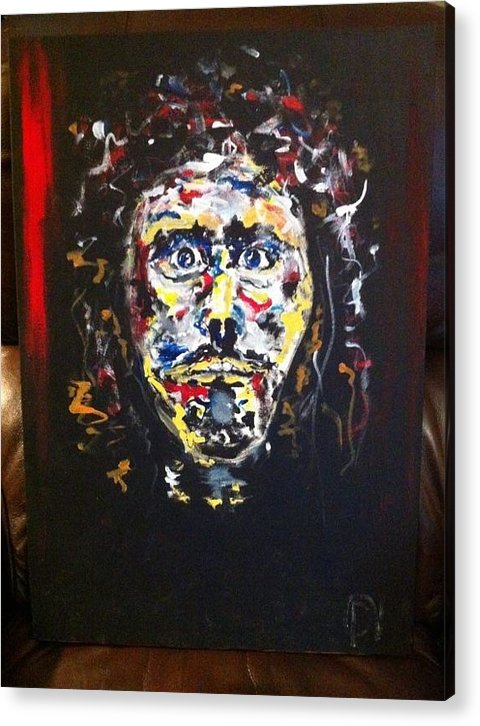 Jesus Face. Acrylic Print featuring the painting The Face Of Christ by David Nagel