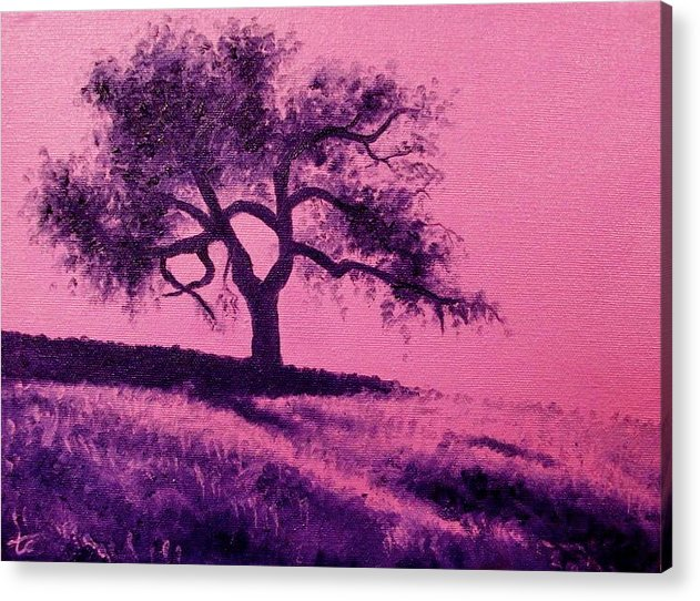 Tree Acrylic Print featuring the painting Tree Study 3 by Theresa Crawford