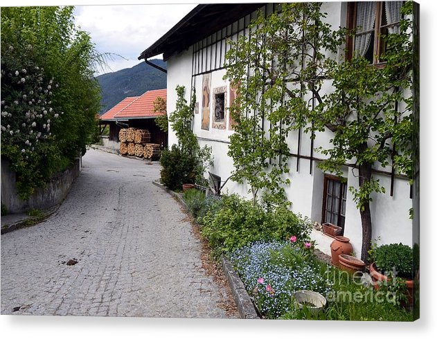Villages Acrylic Print featuring the photograph Village In Tyrol by Elzbieta Fazel