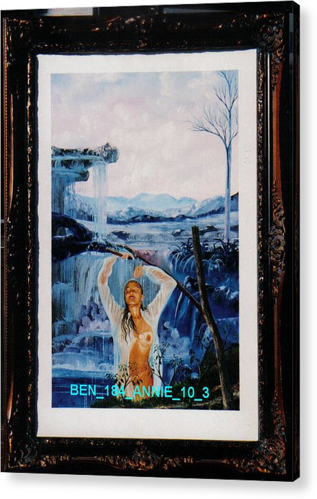 Nudes Acrylic Print featuring the painting Annie 10-3 by Benito Alonso