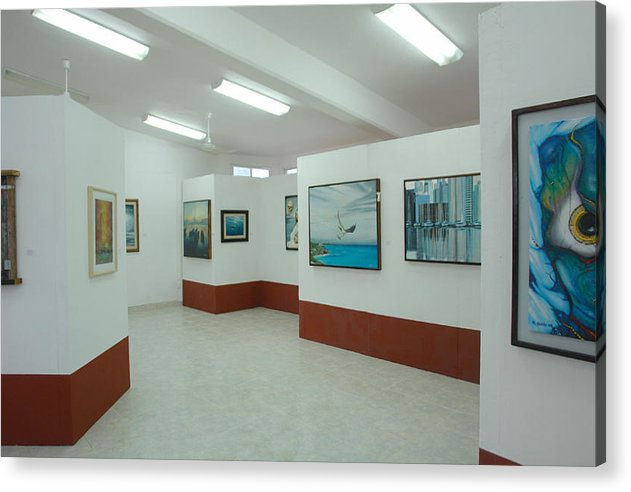 Exhibition Tulum The Opening August 18-2008 Acrylic Print featuring the photograph Exhibition Tulum by Angel Ortiz