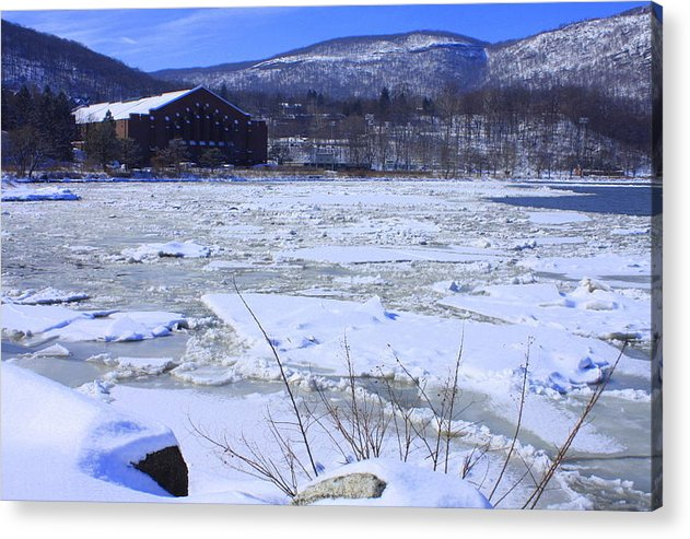 Ice Flow Acrylic Print featuring the photograph Ice Flow by William Rogers