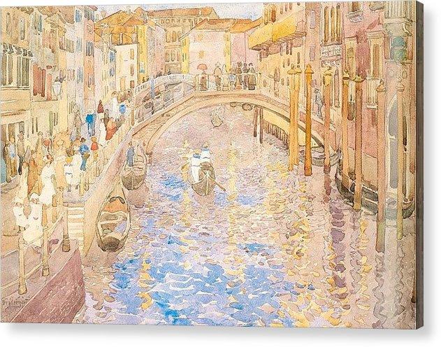 Mosaic Acrylic Print featuring the digital art prendergast9 Maurice Prendergast by Eloisa Mannion
