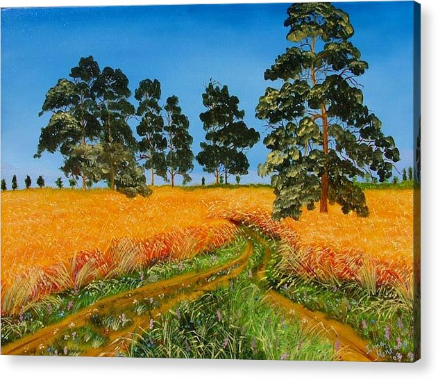 Landscape Acrylic Print featuring the painting Summer Path by Inna Montano