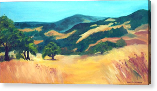 Landscape Acrylic Print featuring the print Western Hills by Anne Trotter Hodge