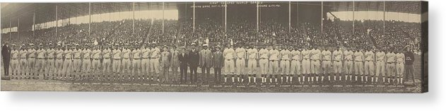 History Acrylic Print featuring the photograph 1924 Negro League World Series. Players by Everett