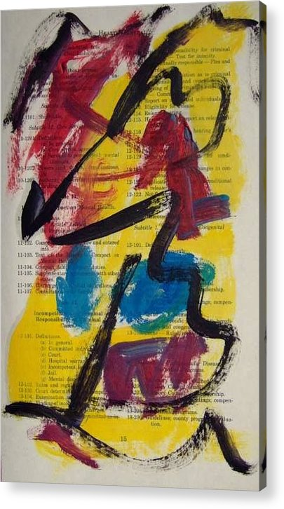 Abstract Art Acrylic Print featuring the painting Abstract On Paper No. 17 by Michael Henderson