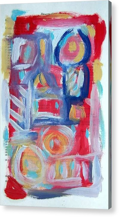 Abstract Art Acrylic Print featuring the painting Abstract On Paper No. 31 by Michael Henderson