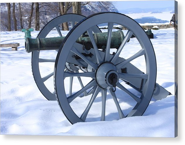 Cannon Acrylic Print featuring the photograph Cannon by William Rogers