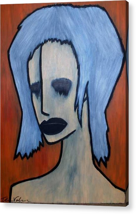 Potrait Acrylic Print featuring the painting Halloween by Thomas Valentine