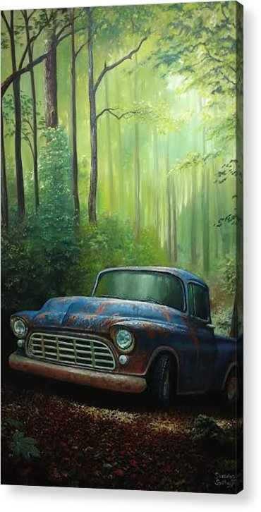 Forest Acrylic Print featuring the painting 55 Chevy by Sheldon Spithoff