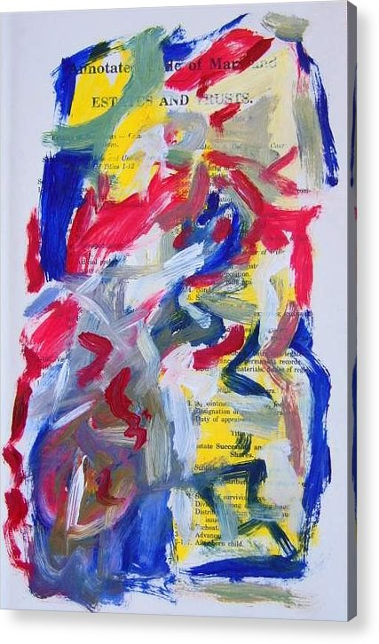 Abstract Art Acrylic Print featuring the painting Abstract On Paper No. 26 by Michael Henderson