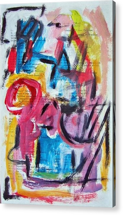Abstract Art Acrylic Print featuring the painting Abstract On Paper No. 27 by Michael Henderson
