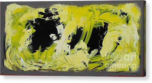 Abstract Acrylic Print featuring the painting Abstract Nature by Mario Zampedroni