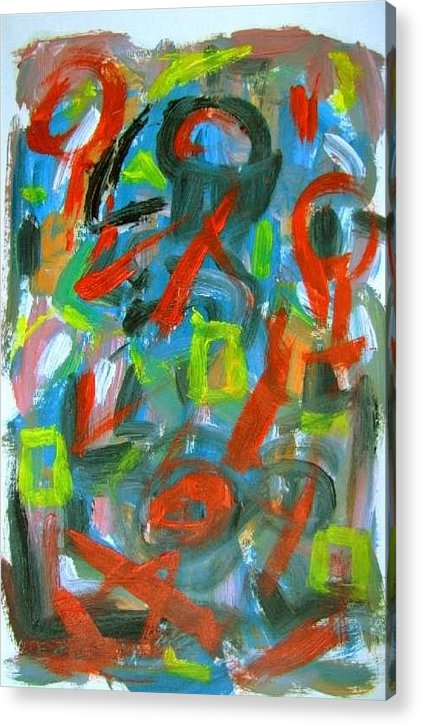 Abstract Art Acrylic Print featuring the painting Abstract On Paper No. 20 by Michael Henderson