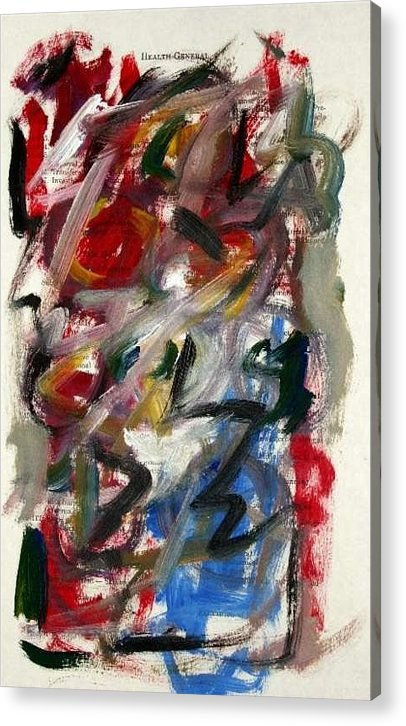 Abstract Art Acrylic Print featuring the painting Abstract On Paper No. 25 by Michael Henderson