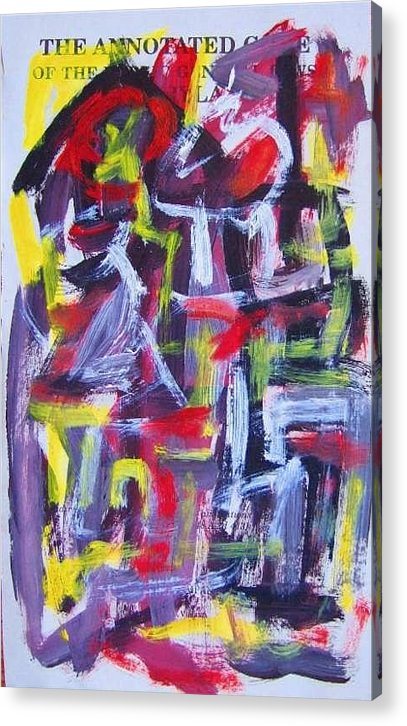 Abstract Art Acrylic Print featuring the painting Abstract On Paper No. 29 by Michael Henderson