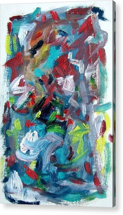 Abstract Art Acrylic Print featuring the painting Abstract On Paper No. 32 by Michael Henderson