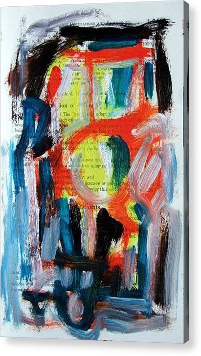 Abstract Art Acrylic Print featuring the painting Abstract On Paper No. 34 by Michael Henderson