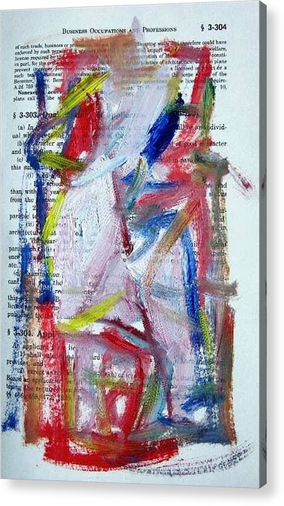 Abstract Art Acrylic Print featuring the painting Abstract On Paper No. 35 by Michael Henderson