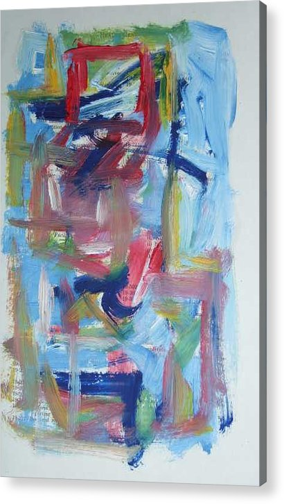 Abstract Acrylic Print featuring the painting Abstract On Paper No. 37 by Michael Henderson