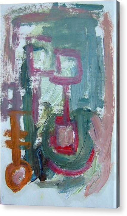 Abstract Art Acrylic Print featuring the painting Abstract On Paper No. 8 by Michael Henderson