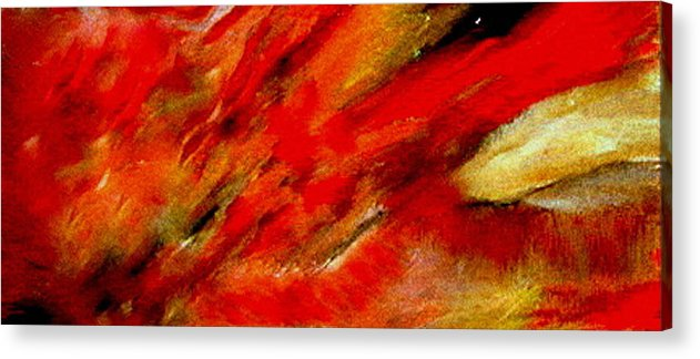 Acrylic Print featuring the painting Abstract-simple Red 3 by Sherri's - Of Palm Springs