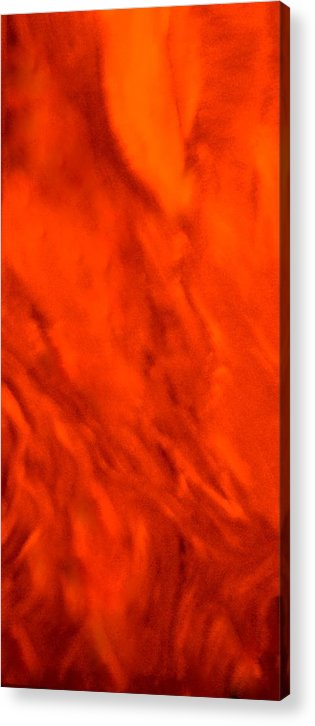 Abstract Acrylic Print featuring the painting Abstract-simply Red by Sherri's - Of Palm Springs
