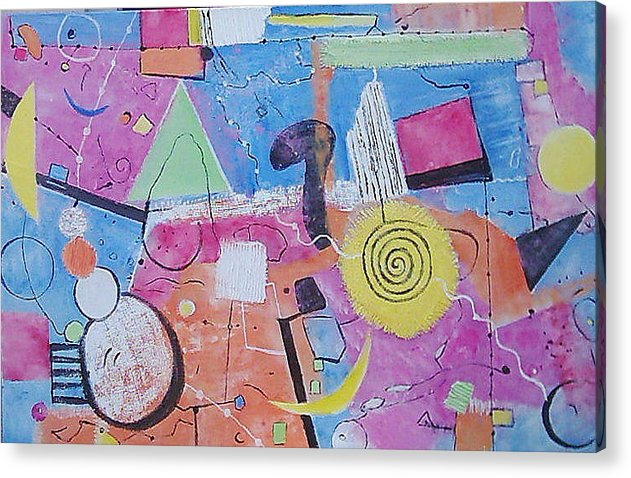 Acrylic Print featuring the mixed media Abstract Universum 3 by Anita Dielen