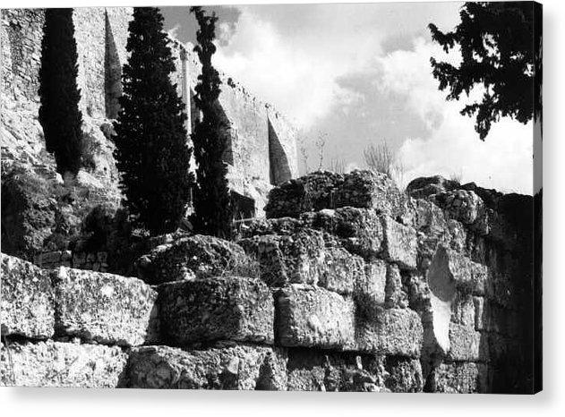 Acropolis Acrylic Print featuring the photograph Acropolis by Susan Chandler