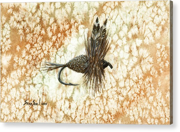 Fishing Fly Acrylic Print featuring the painting Adams Irresistibile by Sean Seal