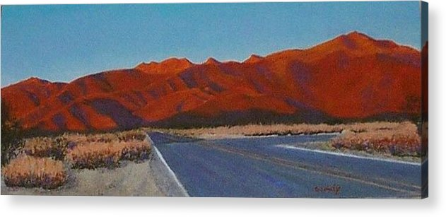 Anza Borego Acrylic Print featuring the painting Anza Borego by Art Nomad Sandra Hansen