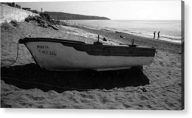 Boat Acrylic Print featuring the photograph At the Sea of Libya by Susan Chandler