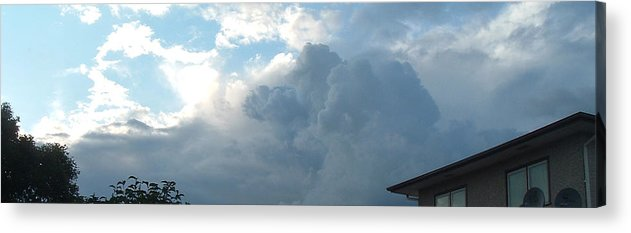 Sky Acrylic Print featuring the photograph Atmospheric Barcode 19 7 2008 16 by Donald Burroughs
