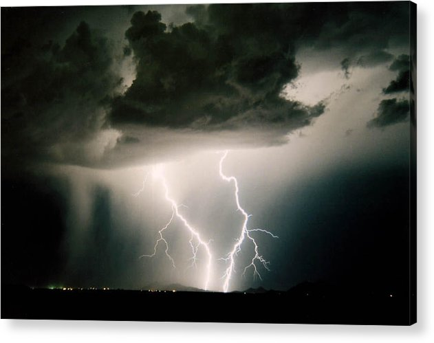 Lightning Acrylic Print featuring the photograph Attitude by Cathy Franklin