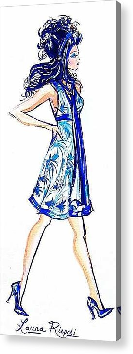 Girl With Attitude Acrylic Print featuring the painting Attitude by Laura Rispoli