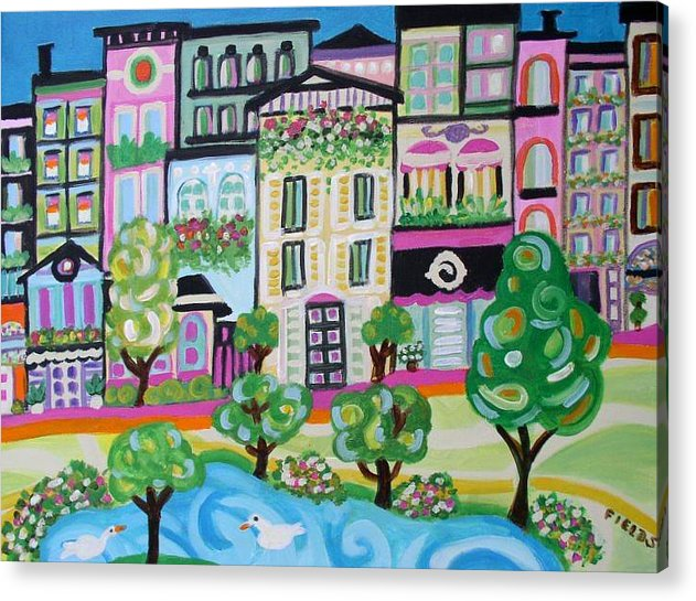 Acrylic Print featuring the painting Avenue Of Parks by Karen Fields