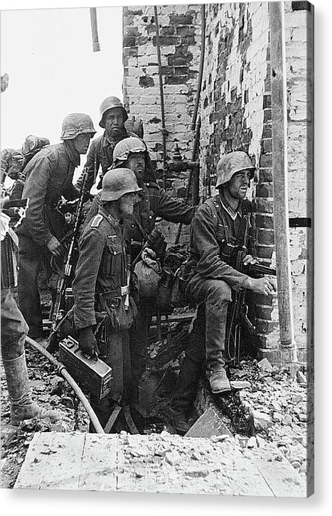 Battle Of Stalingrad Nazi Infantry Street Fighting 1942 Acrylic Print featuring the photograph Battle Of Stalingrad Nazi Infantry Street Fighting 1942 by David Lee Guss