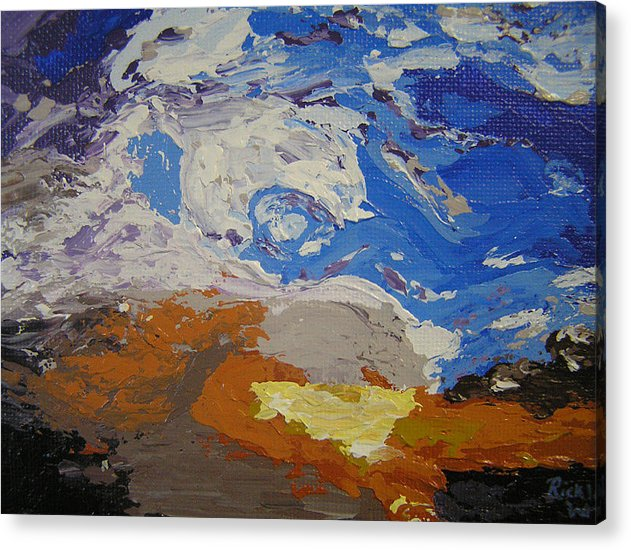 Sunset Acrylic Print featuring the painting Belonging by Ricklene Wren