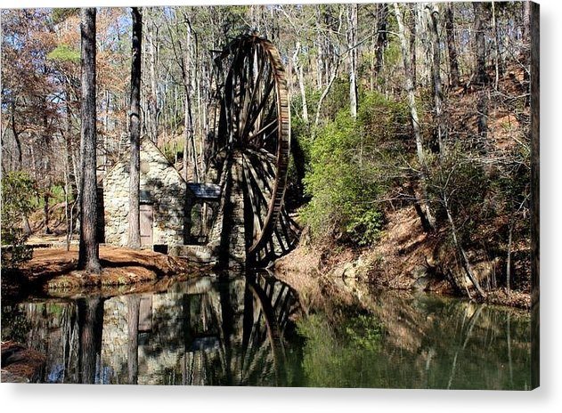 Berry College Acrylic Print featuring the photograph Berry College Water Wheel by Amara Dempsey