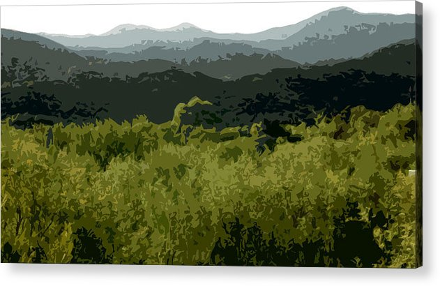 New Mexico Acrylic Print featuring the digital art Black Mountains by John Scariano