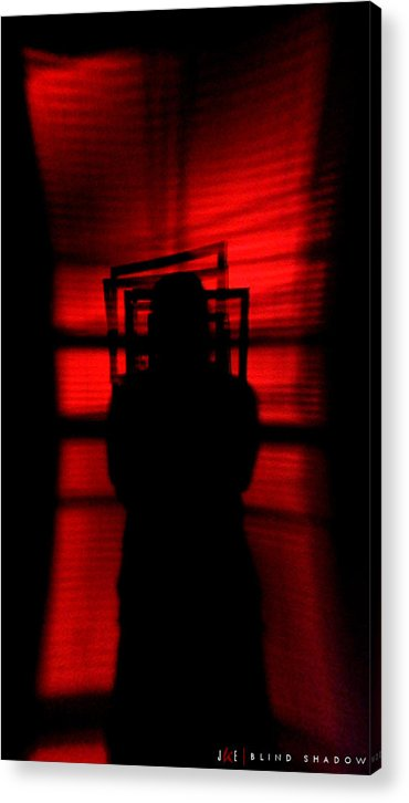 Abstract Acrylic Print featuring the photograph Blind Shadow by Jonathan Ellis Keys