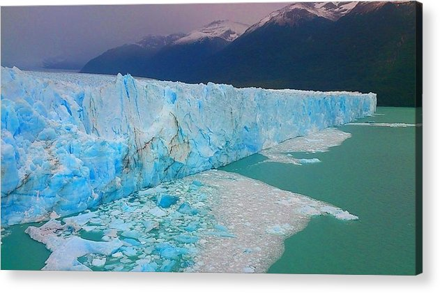 Nature Acrylic Print featuring the photograph Blue Ice by Natalia Wallwork
