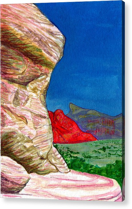 Kelso Acrylic Print featuring the painting Boulder by Bonnie Kelso