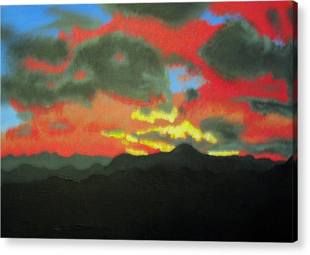 Sunset Acrylic Print featuring the painting Buenas Noches by Marco Morales