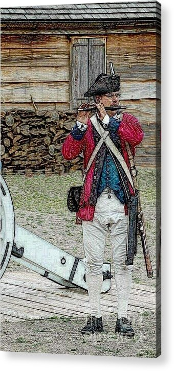 Diane Berry Acrylic Print featuring the digital art Call to Arms by Diane E Berry
