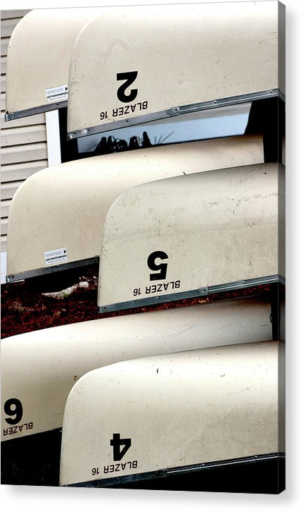 Canoe Acrylic Print featuring the photograph Canoes At Rollins by Dolores Russo