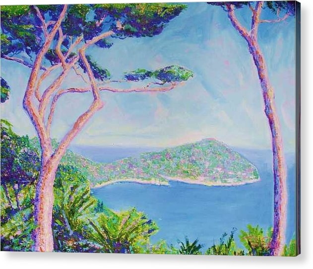Oil Acrylic Print featuring the painting Cap Ferat Provence by Pixie Glore