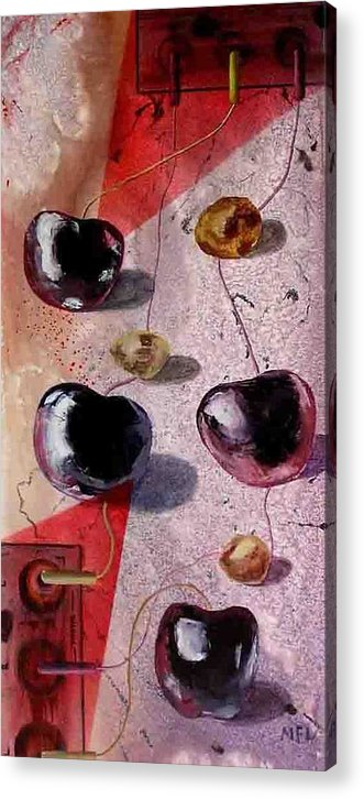 Acrylic Print featuring the painting Cherry Music by Evguenia Men
