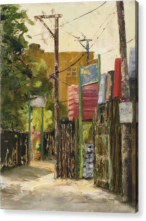Chicago Alley Acrylic Print featuring the painting Chicago Andersonville Alley by Nancy Albrecht